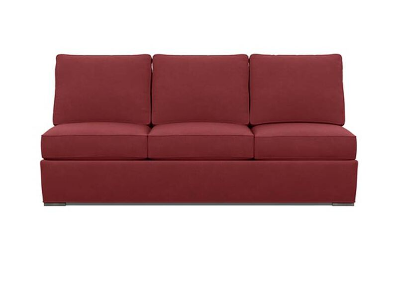 Meeting Place Armless Sofa , Lucky Denim Red (D1200) , large_gray