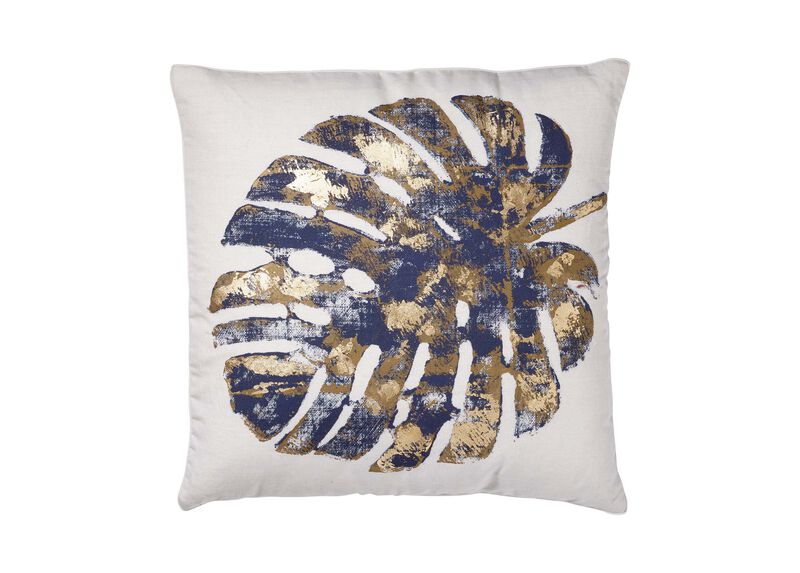 Gilded Leaf Pillow ,  , large_gray