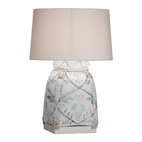 Jasmine Blue Bamboo Table Lamp ,  , large