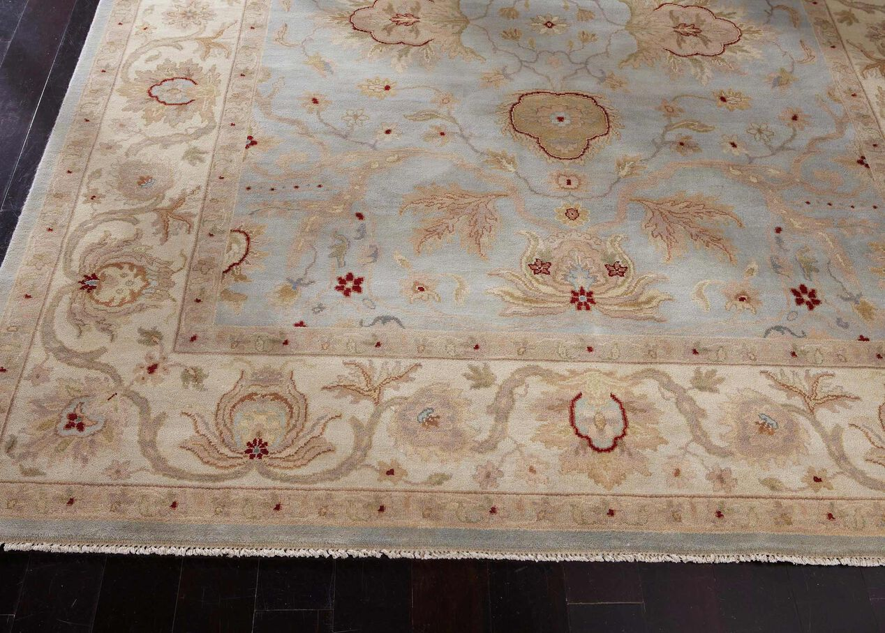 Isfahan Rug Light Blueivory Traditional Patterned Rugs Ethan Allen