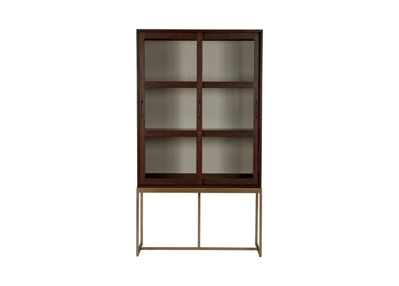 Galewood Tall Display Cabinet With Glass Doors Ethan Allen Ethan