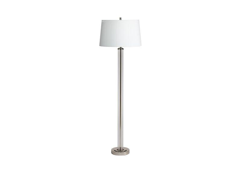 Glass Cylinder Floor Lamp