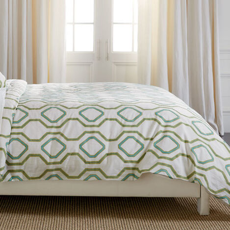 Ogee Embroidered Full/Queen Duvet Cover Product Tile Image 0319835