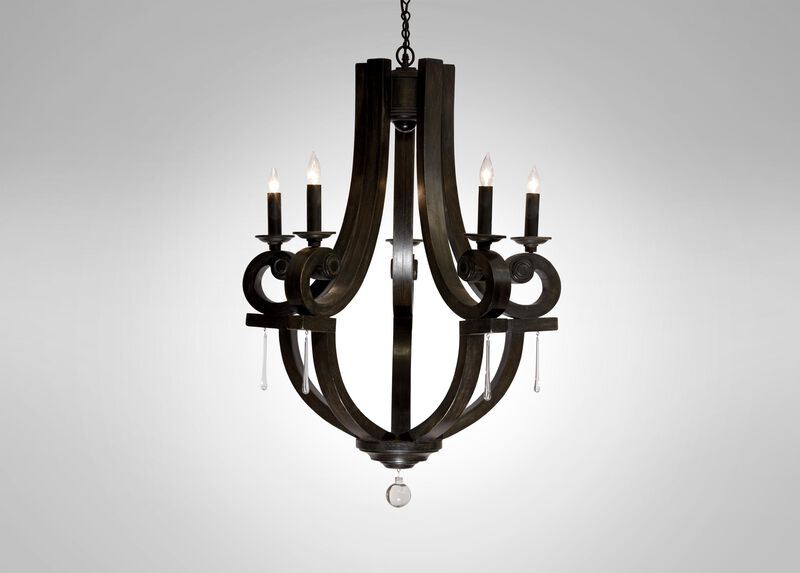 Black Lisi Small Chandelier ,  , large_gray