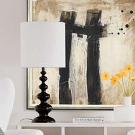 Modern Spindle Table Lamp, Mickey's Ear Black ,  , hover_image