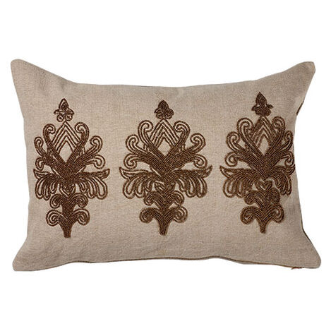 Beaded Scroll Pillow ,  , large