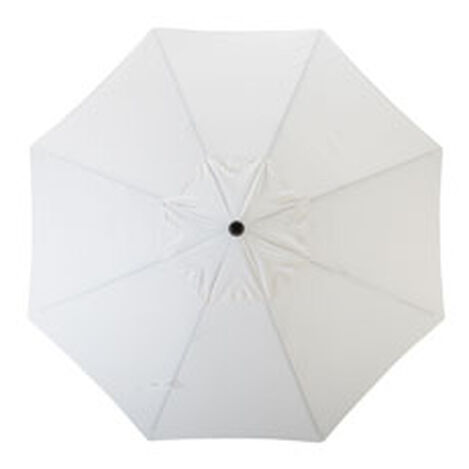 9' Single Vent White Umbrella ,  , hover_image
