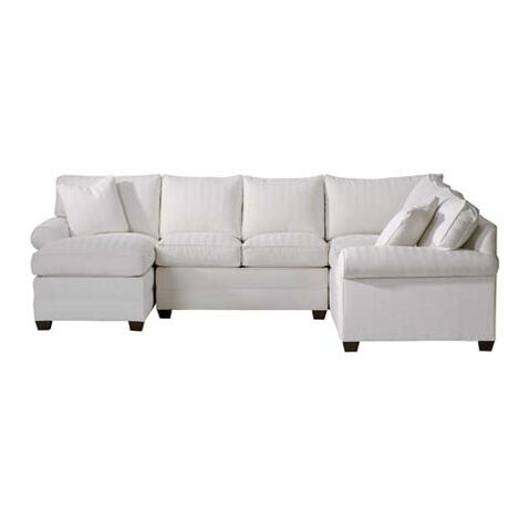 Bennett Roll-Arm Sectional with Chaise ,  , large