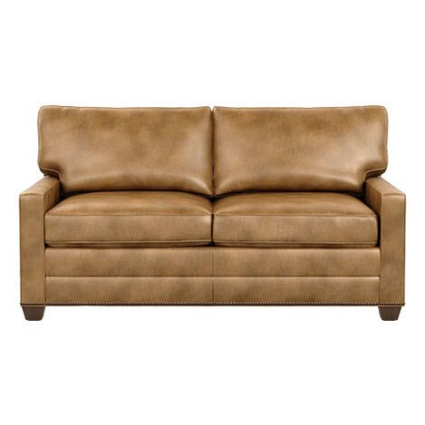 Bennett Track-Arm Leather Two Seat Sofa ,  , large