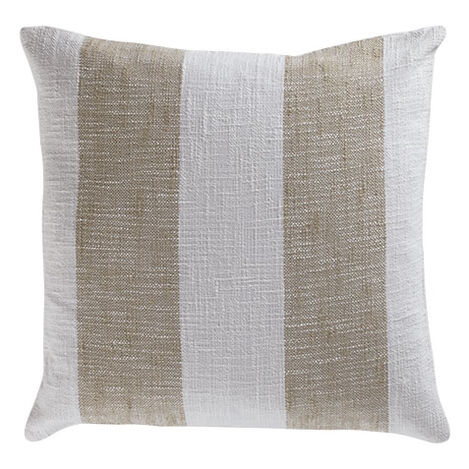 Taupe Striped Pillow ,  , large