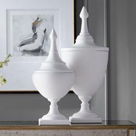 Large Bisque Finial Urn ,  , hover_image