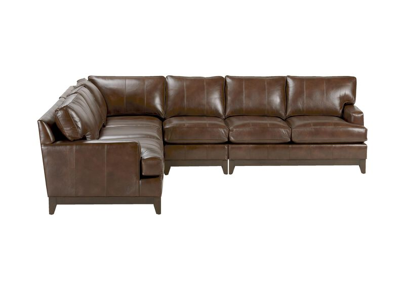 Arcata Four-Piece Leather Sectional, Quick Ship