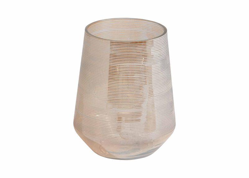 Champagne Etched Vase