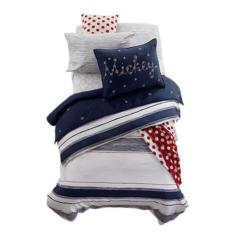 Mixed Stripe Midnight Bedding ,  , large