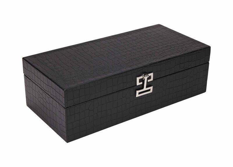 Long Black Croc Box at Ethan Allen in Ormond Beach, FL | Tuggl