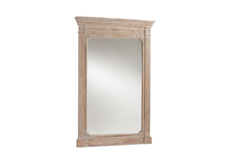 Aged Oak Madeleine Trumeau Floor Mirror