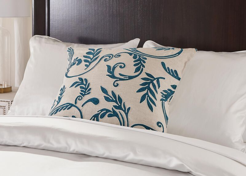 Embroidered Linen Euro Sham