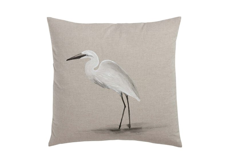 Hand-Painted Bird on Sand Pillow ,  , large_gray