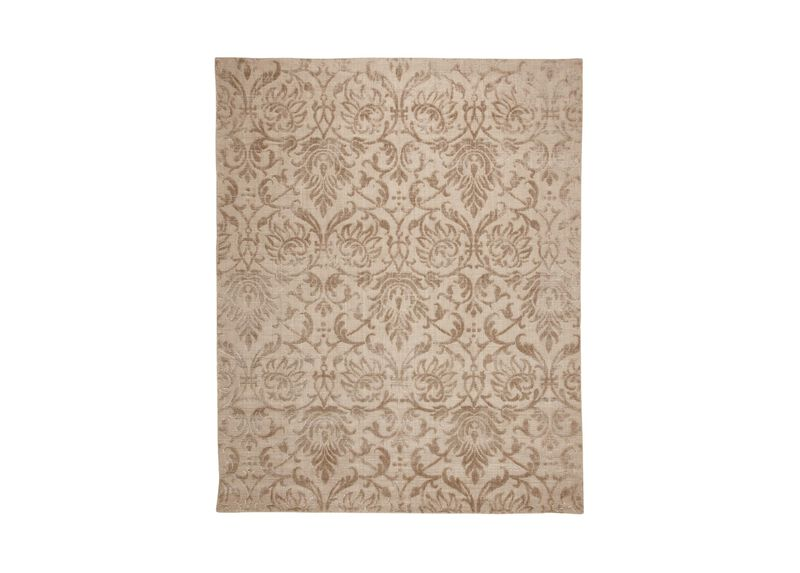Jacquard Damask Rug, Buff ,  , large_gray