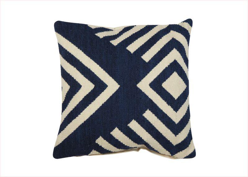 Broken Diamond Wool Pillow ,  , large_gray