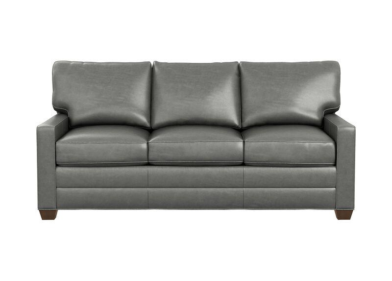 Bennett Track-Arm Leather Sofa, Quick Ship