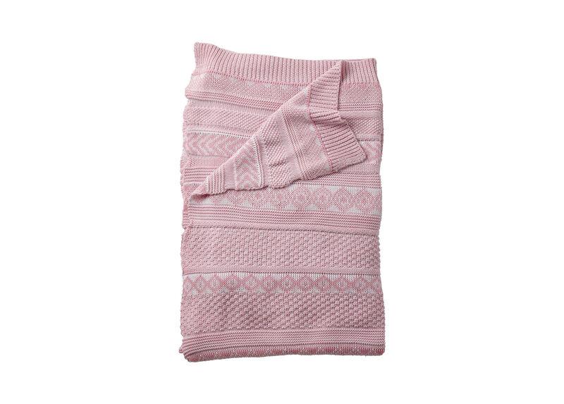 Sweater Stitch Knit Stroller Blanket