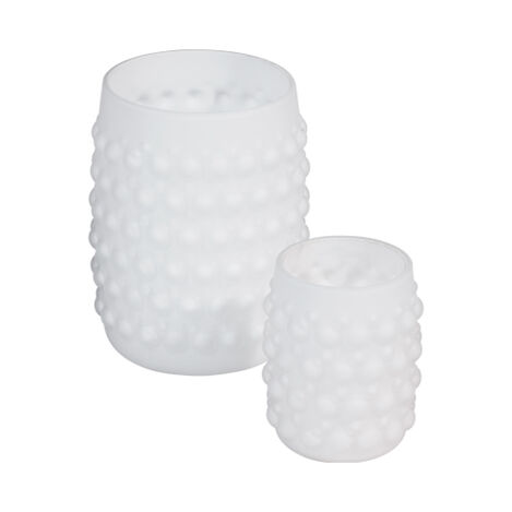 Hobnail Votive, Snow ,  , large