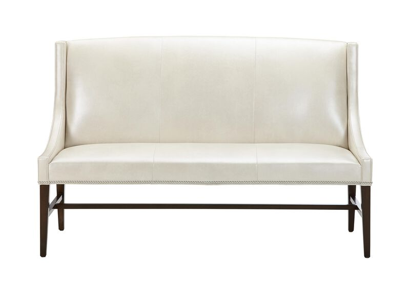 Aldrich Leather Bench ,  , large_gray