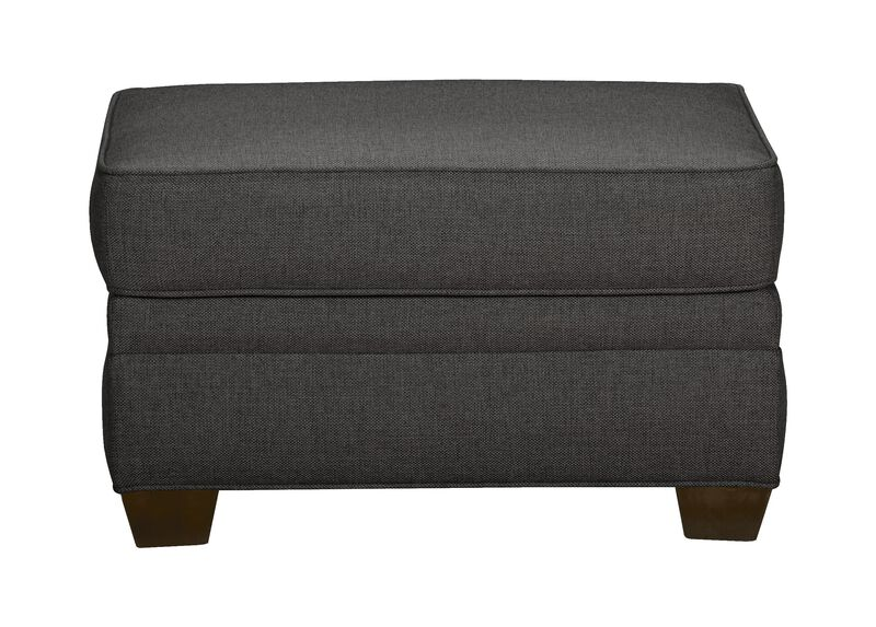 Bennett Ottoman, Quick Ship , Hailey Charcoal (Q1055), solid texture , large_gray
