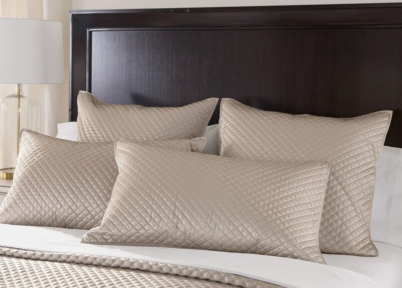 Salena Quilted Sham, King Taupe