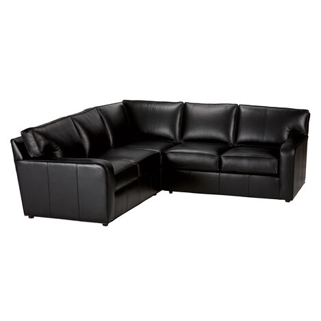 Retreat Track-Arm Leather Sectional ,  , large