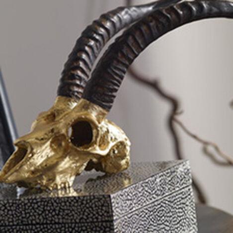 Gold Leaf Impala Skull Replica ,  , hover_image