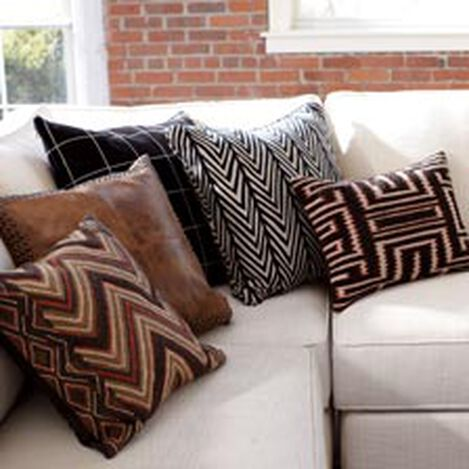 Modern Tribal Bouclé Pillow ,  , hover_image