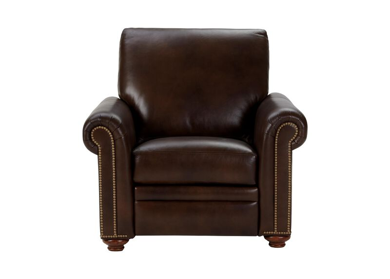 Conor Leather Recliner, Omni/Brown
