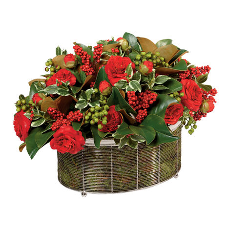 Seasonal Mix in Wire Basket ,  , large