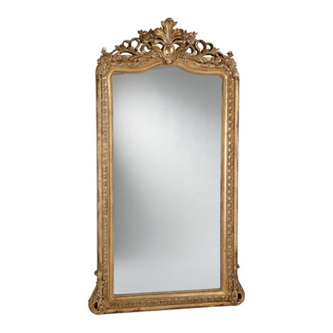 Aged Gold Luxe Floor Mirror ,  , large