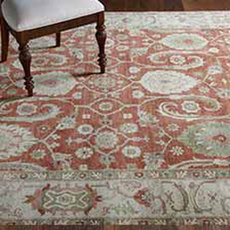 Indo Herat Rug, Rust/Ivory Product Tile Hover Image 041484