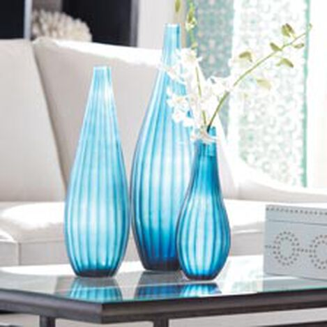 Teal Ribbed Vase Product Tile Hover Image 439847