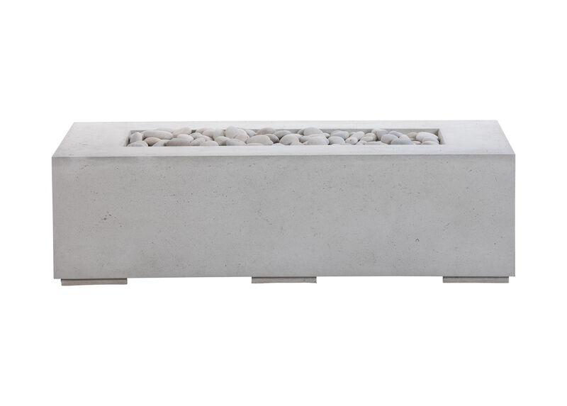 Rectangular Concrete Fire Table