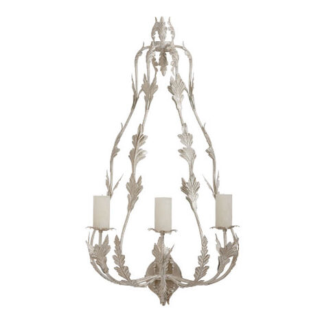 Antique Leaf Candle Sconce ,  , large