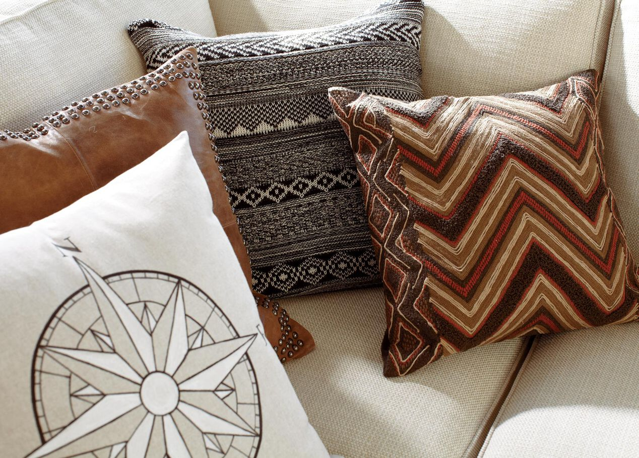 Modern Tribal Chevron Pillow Pillows