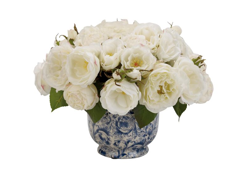 Mixed White Roses in Cachepot ,  , large_gray