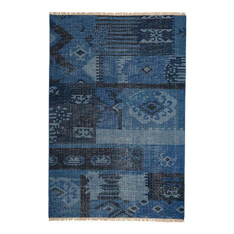 Patchwork Rug, Blue ,  , large