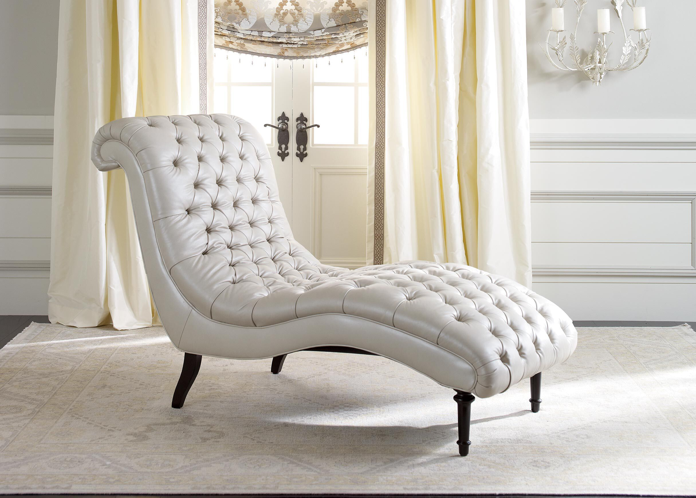 Harlowe Leather Chaise__4 · Ethan Allen ...