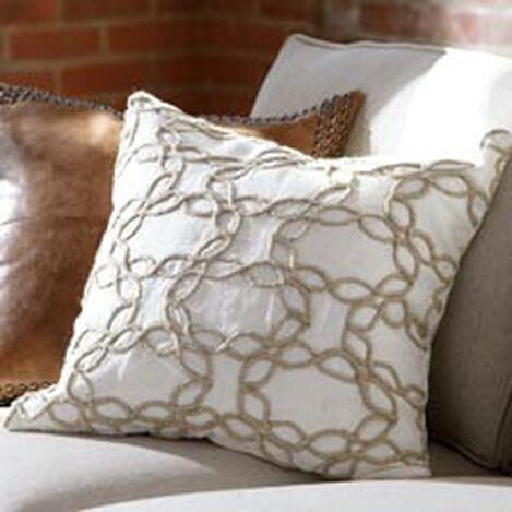 Wavy Jute Pillow, Ivory/Natural ,  , hover_image