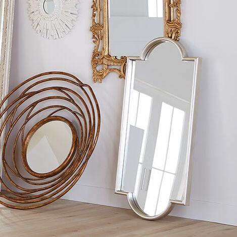 Jayne Silver Leaf Mirror Product Tile Hover Image 074093