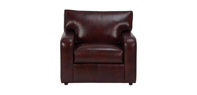 Retreat Track-Arm Leather Chair