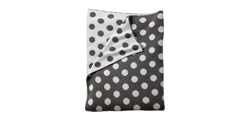 Dotty Stroller Blanket, Mouse Grey