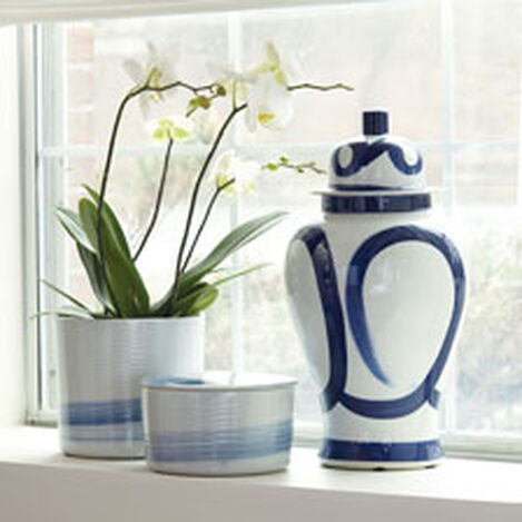 Blue and White Brushstroke Jar Product Tile Hover Image 432089