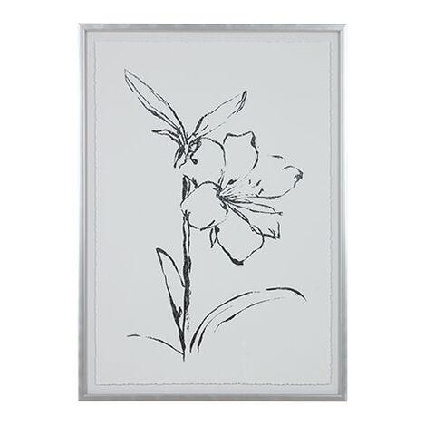 Silver Foil Floral I Product Tile Image 073760A